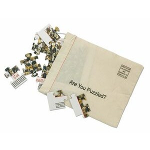 4 Piece Puzzle in Cotton Mail Bag